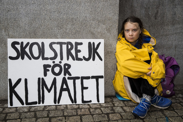Greta Thunberg-School strike for climate