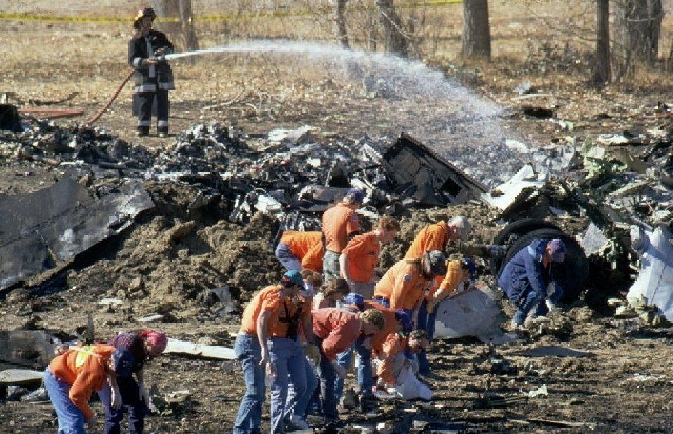 United Airlines Flight 585 crash site